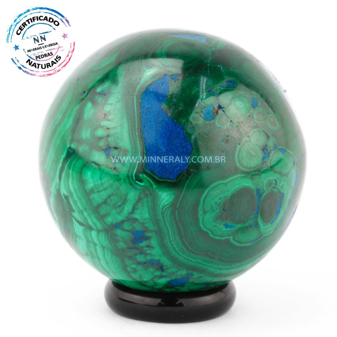 Esfera de Malaquita in Natura (0268kg; 5,2cm) #NN121
