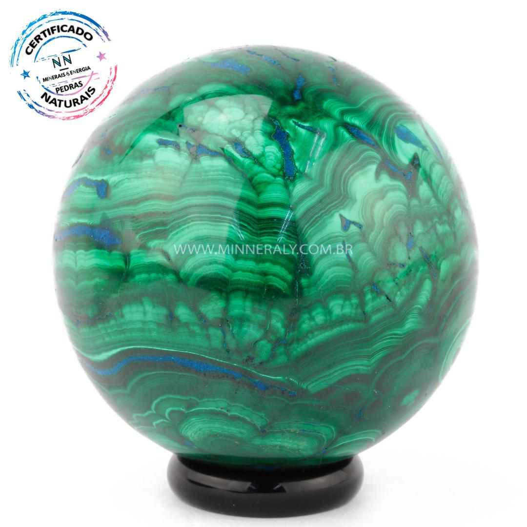Esfera de Malaquita in Natura