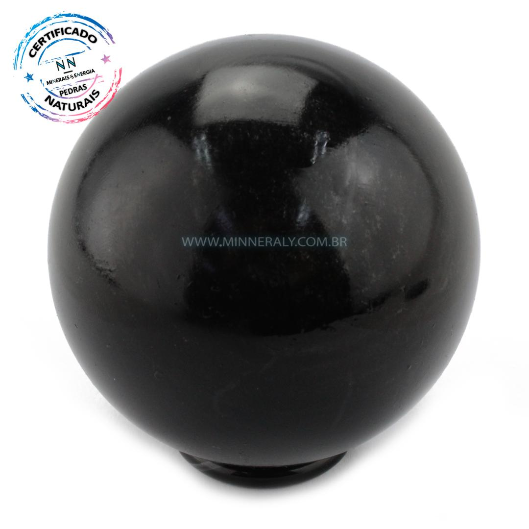 Esfera de Obsidiana Negra (preta) IN Natura (0,646KG; Diam: 7,9CM)