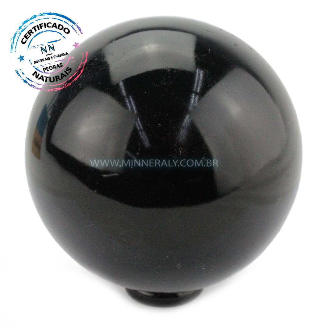 Esfera de Obsidiana Negra (preta) IN Natura (0,712KG; Diam: 8,2CM)