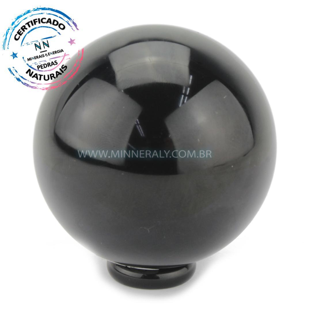 Esfera de Obsidiana Preta in Natura (0,398kg; 6,8cm) #NN125
