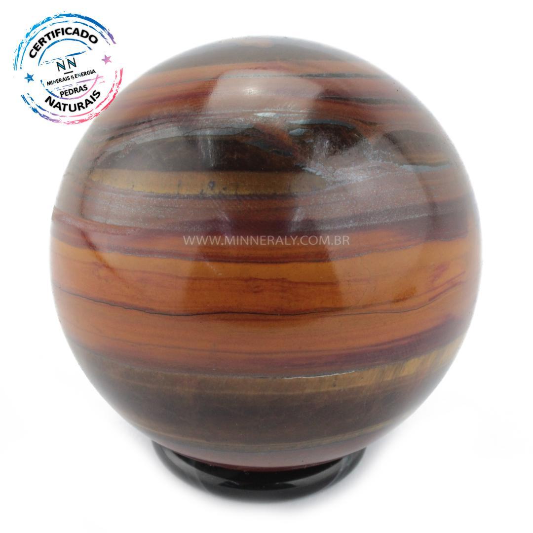 Esfera de OLHO de Tigre (dourado) IN Natura (0,374KG; Diam: 6,2CM)