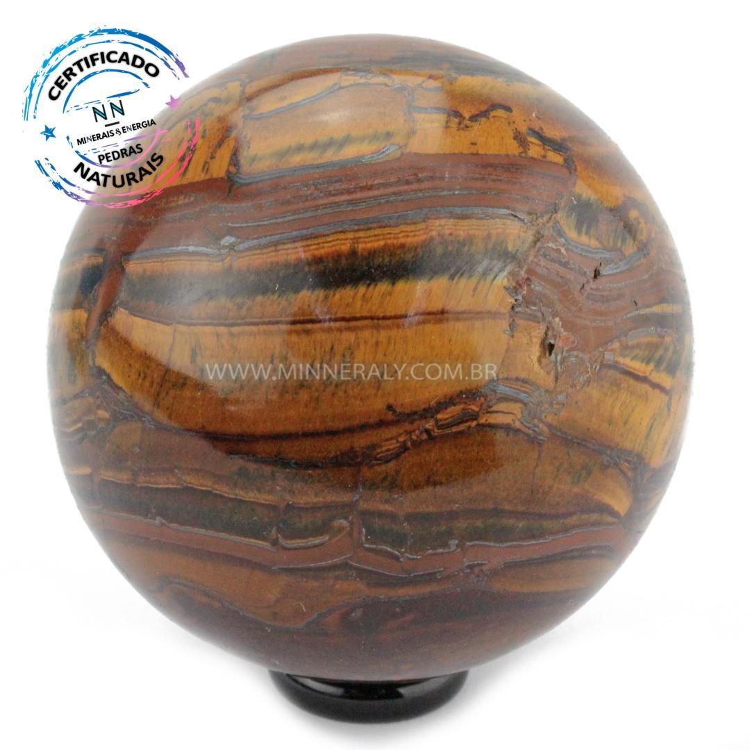 Esfera de OLHO de Tigre IN Natura (0,708KG; Diam: 7,7CM)