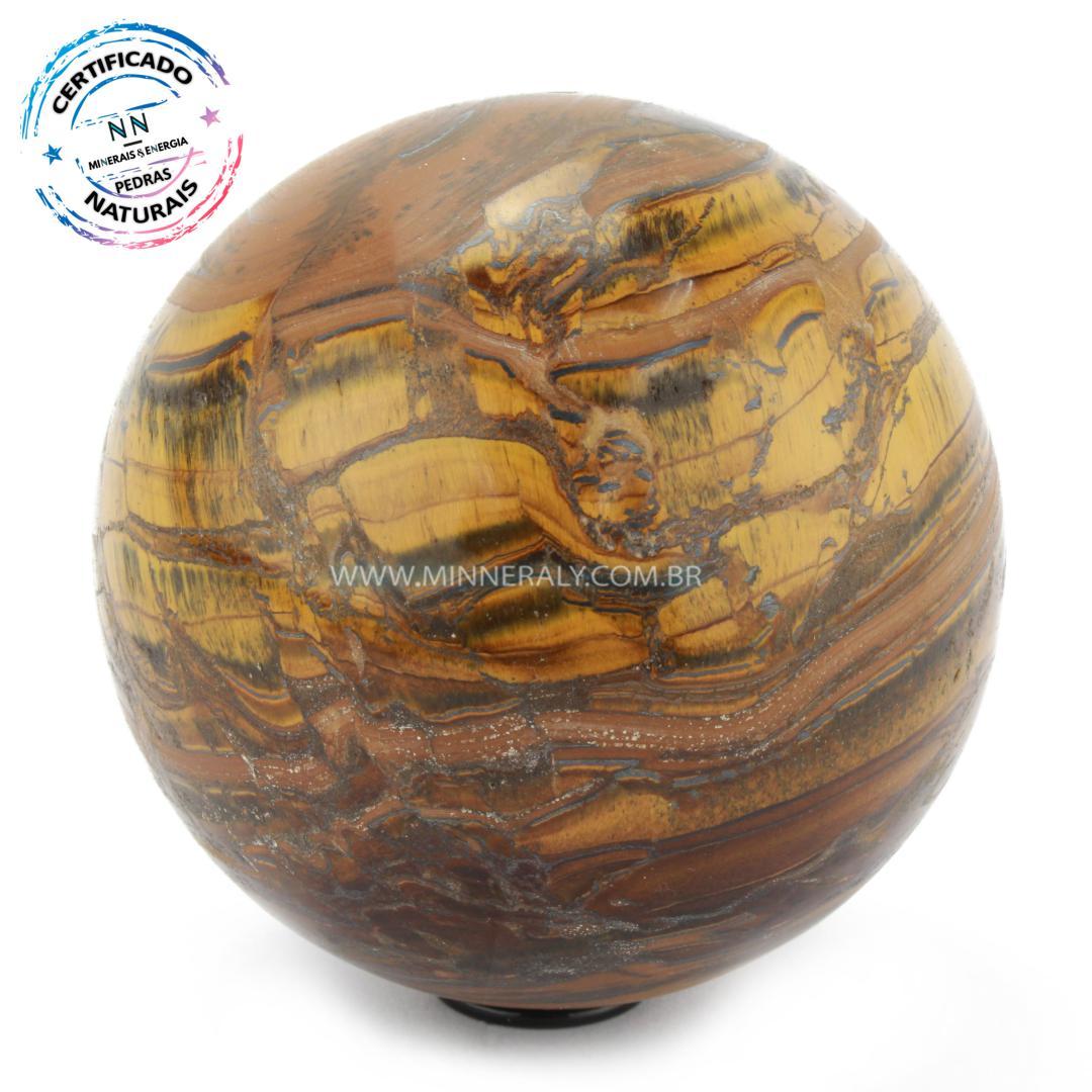 Esfera de Olho de Tigre in Natura (0,922kg; 9,4cm) #NN128