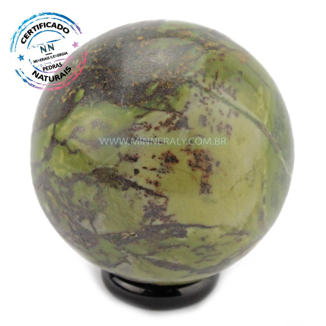 Esfera de Pedra do Infinito (Serpentinita Verde-Clara) in Natura (0,244kg; 5,4cm) #NN112