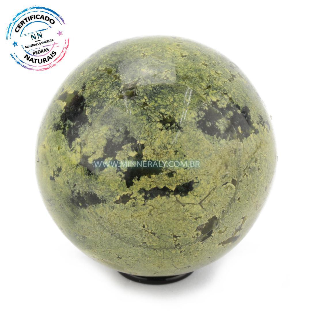 Esfera de Pedra do Infinito (Serpentinita Verde-Clara) in Natura (0,276kg; 6,6cm) #NN129