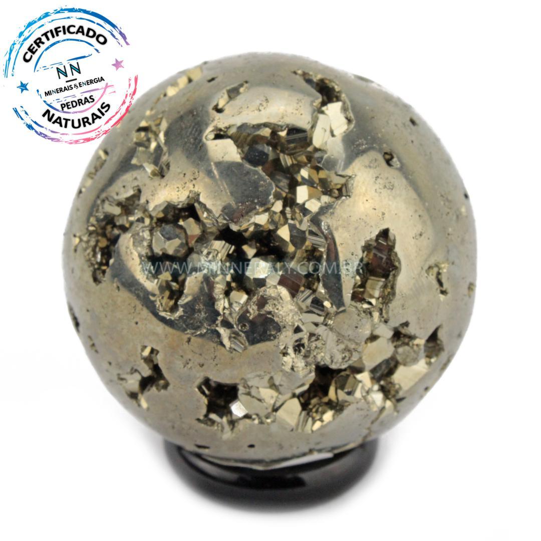 Esfera de Pirita IN Natura (0,218KG; Diam: 4,7CM)