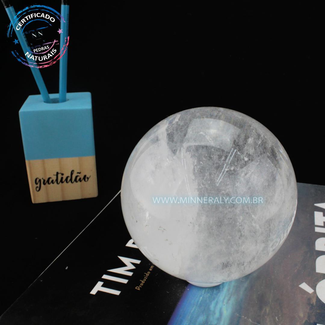 Esfera de Quartzo ou Cristal Branco in Natura (0,708kg; 8,0cm) #NN133