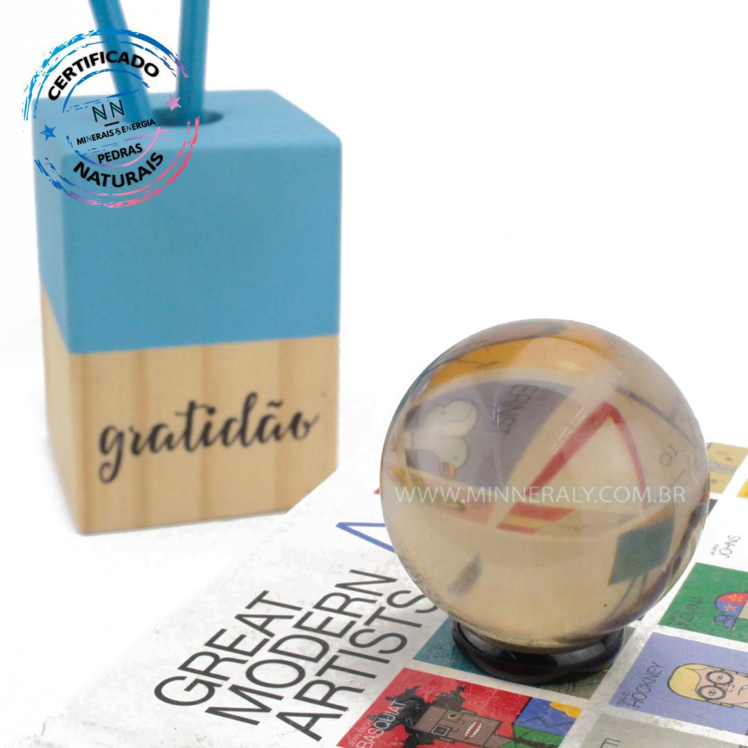 Esfera de Quartzo ou Cristal Fume IN Natura (0,148KG; Diam: 4,7CM)