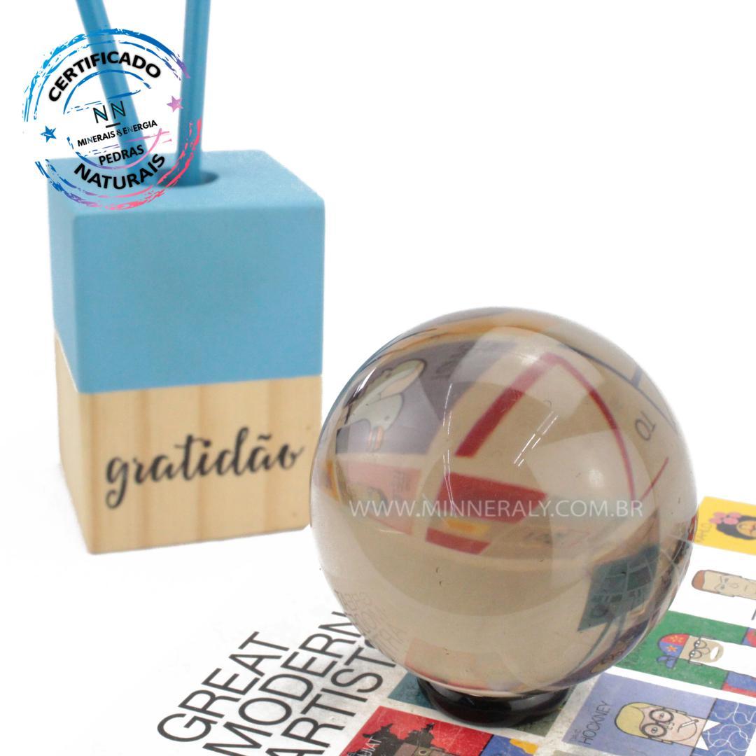 Esfera de Quartzo ou Cristal Fume IN Natura (0,330KG; Diam: 6,1CM)