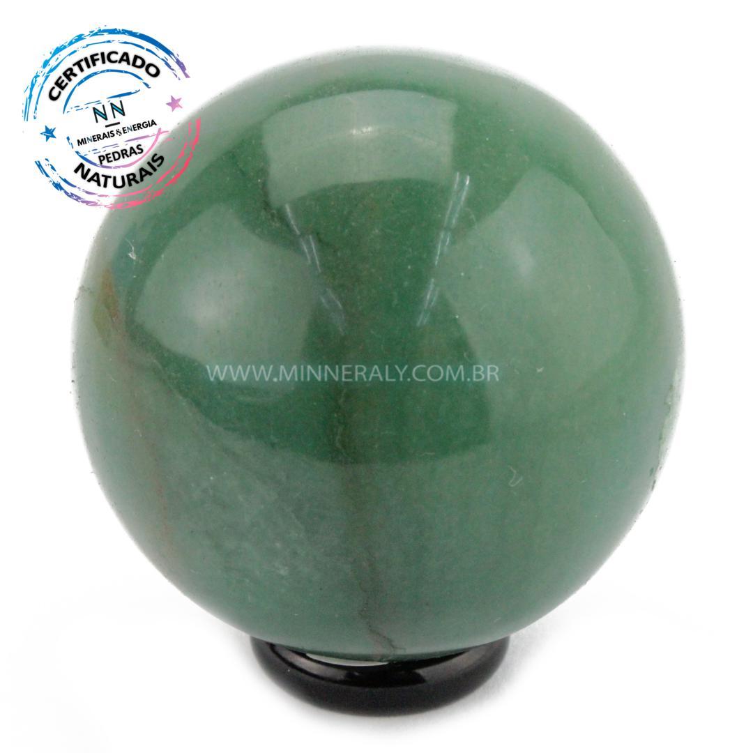 Esfera de Quartzo Verde IN Natura (0,274KG; Diam: 5,7CM)
