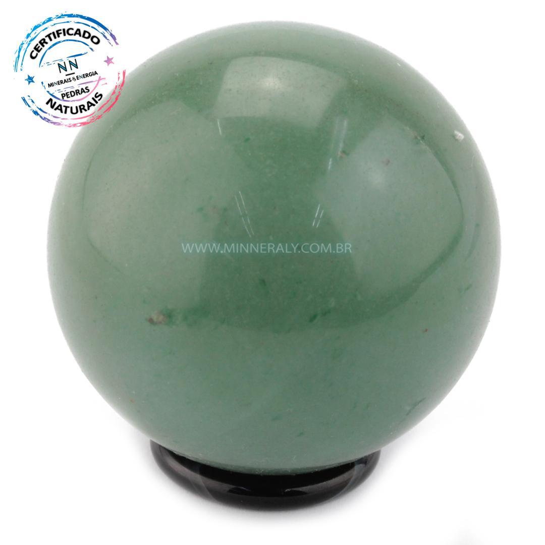 Esfera de Quartzo Verde IN Natura (0,348KG; Diam: 6,7CM)