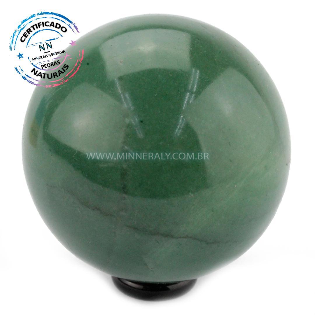 Esfera de Quartzo Verde IN Natura (0,608KG; Diam: 7,5CM)
