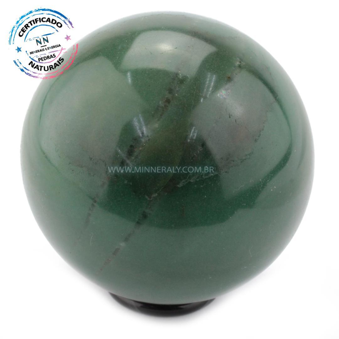 Esfera de Quartzo Verde IN Natura (0,650KG; Diam: 8,2CM)