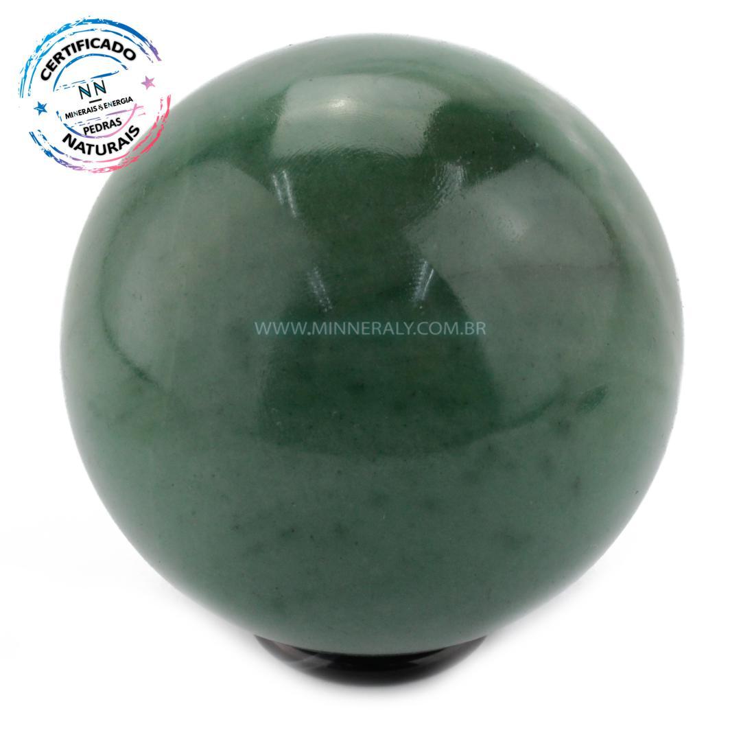 Esfera de Quartzo Verde IN Natura (0,654KG; Diam: 7,7CM)