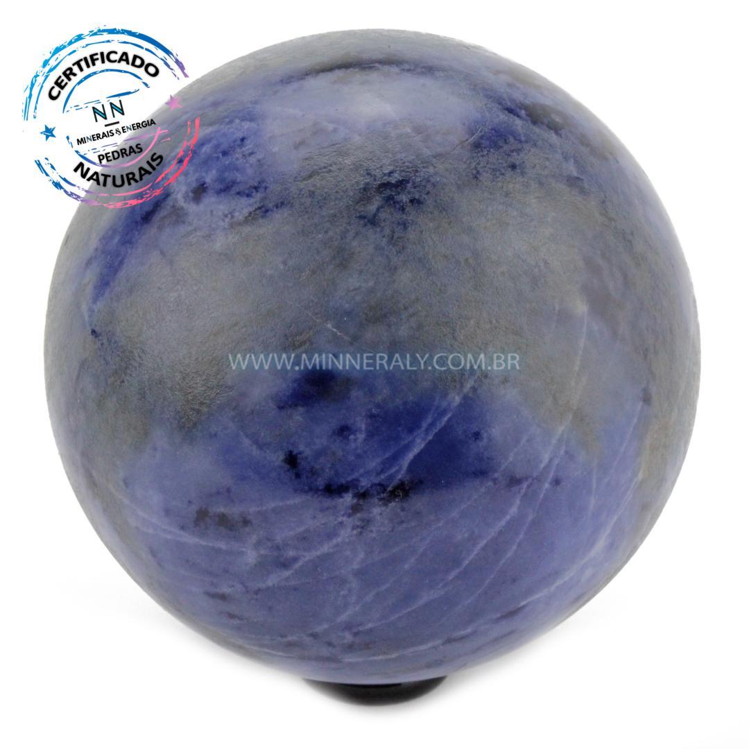 Esfera de Sodalita IN Natura (1,358KG; Diam: 9,9CM)