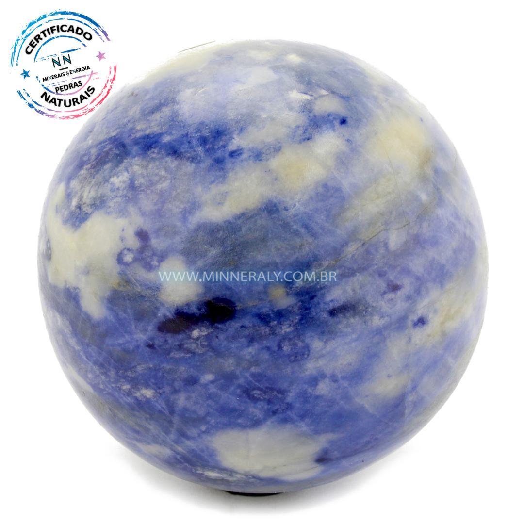 Esfera de Sodalita in Natura (1,418kg; 11,0cm) #NN109