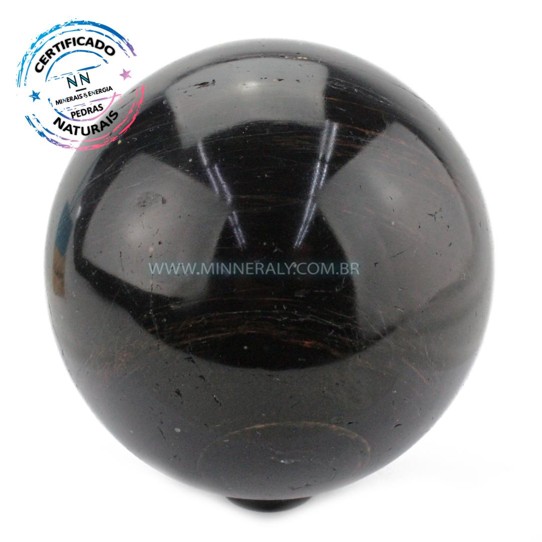 Esfera de Turmalina Preta (negra ou Schorlina) IN Natura (1,692KG; Diam: 10,6CM)