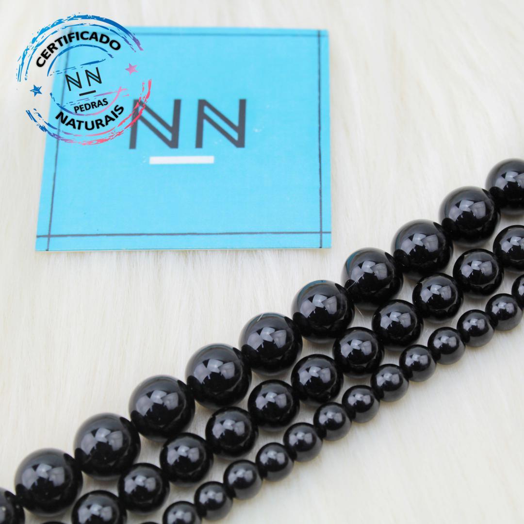 Fio de Obsidiana Negra (Preta) in Natura