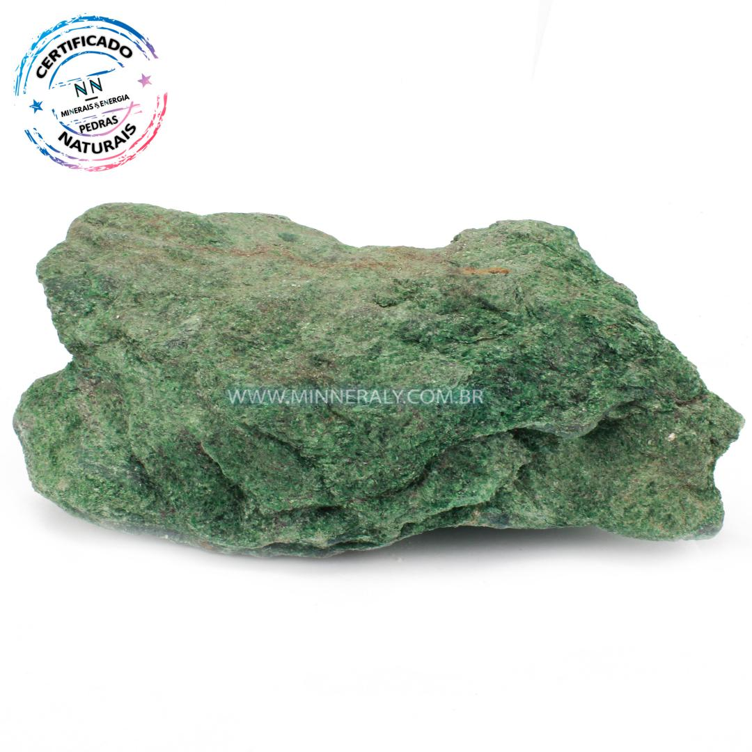 Fuchsita  (Moscovita Verde) in Natural em Bruto (1,072kg; 7,0cm)  #NN347
