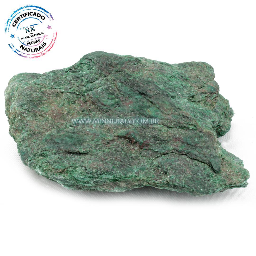 Fuchsita  (moscovita Verde) IN Natural em Bruto (0,516KG; ALT: 4,9CM; COMP: 11,4CM; LARG: 9,2CM)