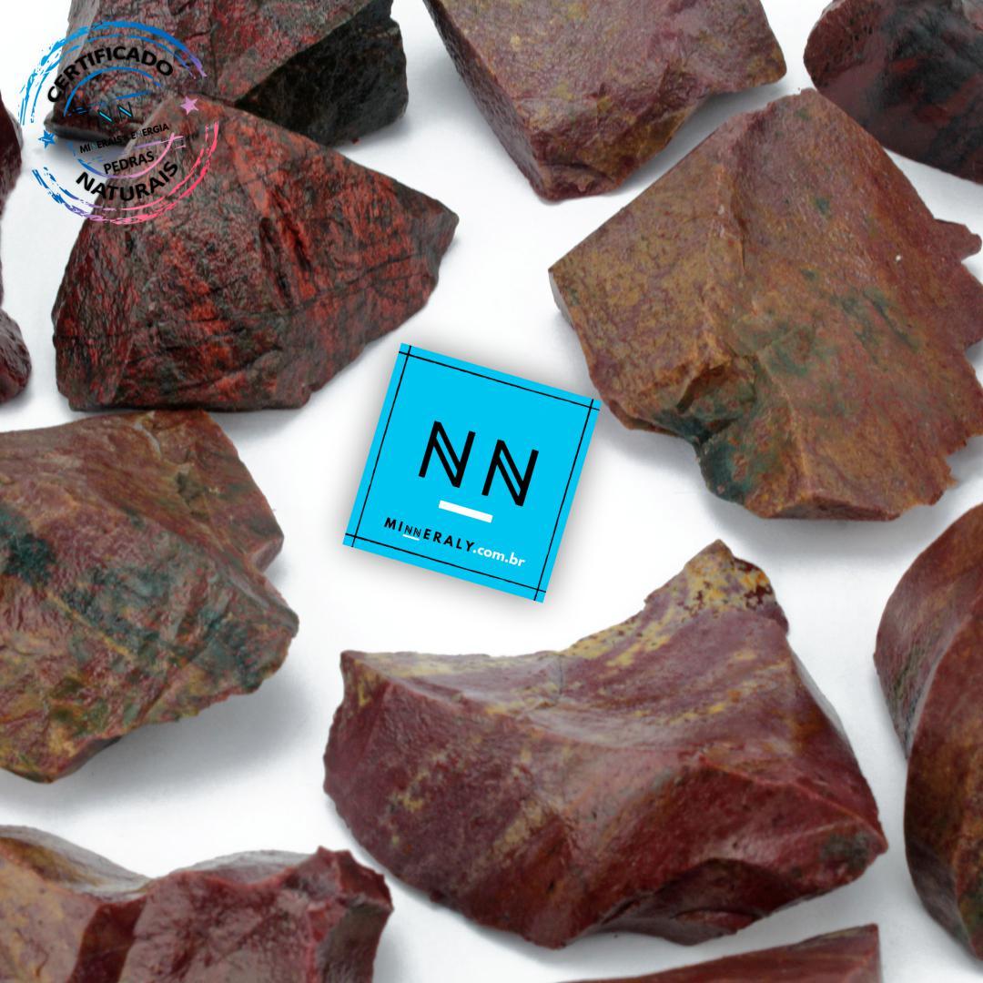 Jaspe Sanguineo Heliotrópio (Pedra Sangue ou Decorativo) in Natura Bruta/Peça