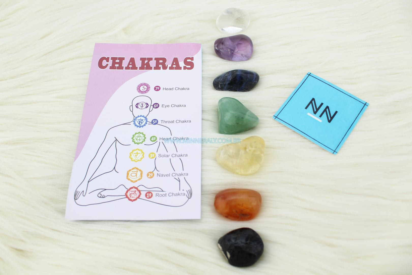 Kit 7 Chakras em Pedras #NN103