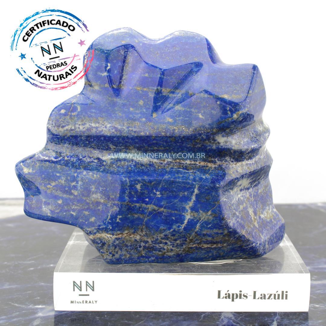 LAPIS-LAZULI IN Natura Clear.collection (2,095KG; ALT: 13,0CM; COMP: 9,5CM; LARG: 13,0CM)