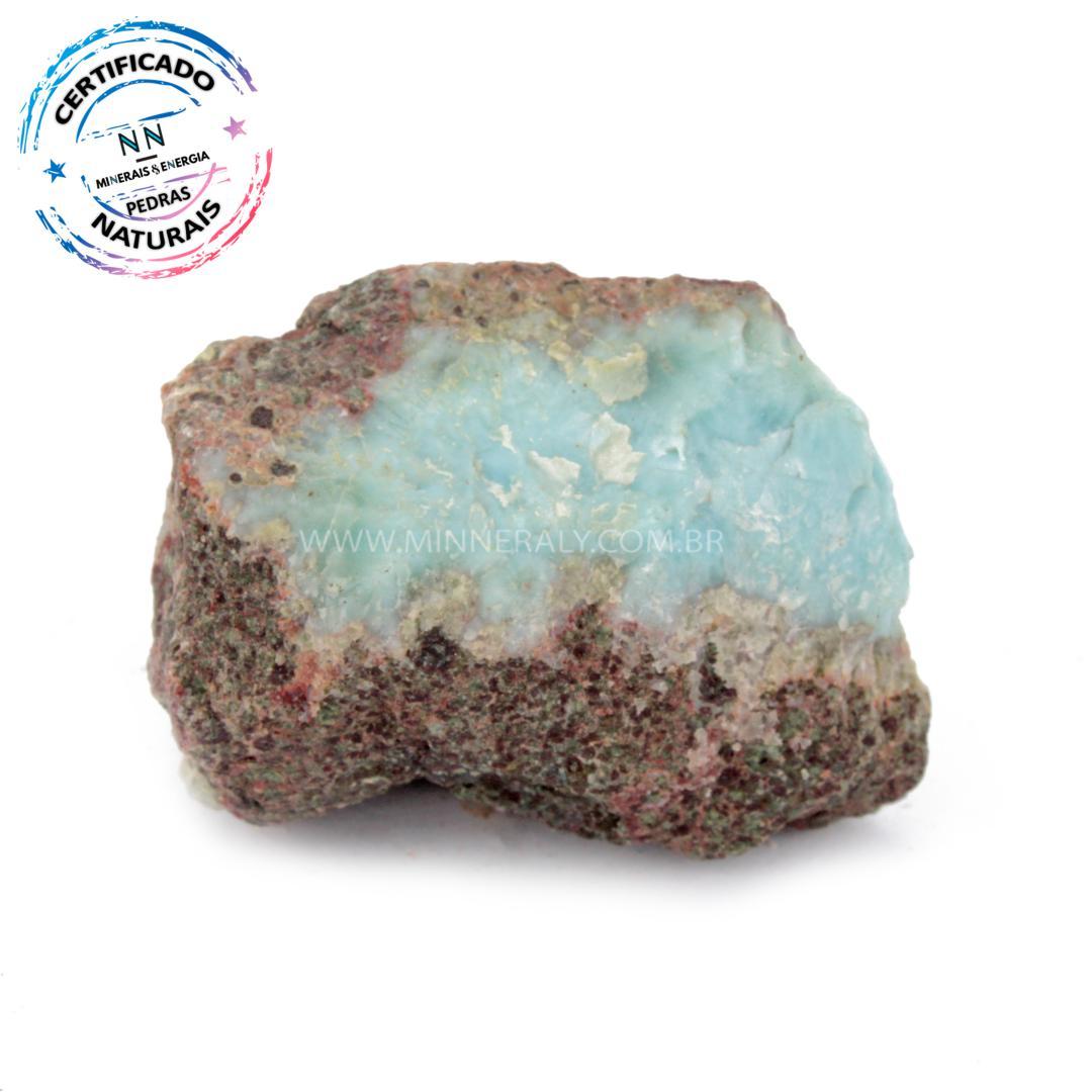 Larimar (pedra Golfinho ou Pectolita AZUL) IN Natura em Bruto (0,100KG; ALT: 4,0CM; COMP: 5,0CM; LARG: 4,1CM)