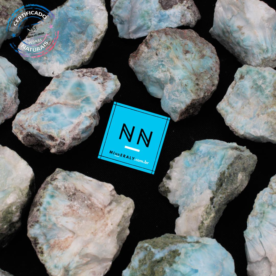 Larimar (Pedra Golfinho ou Pectolita Azul) in Natura Bruta/Peça