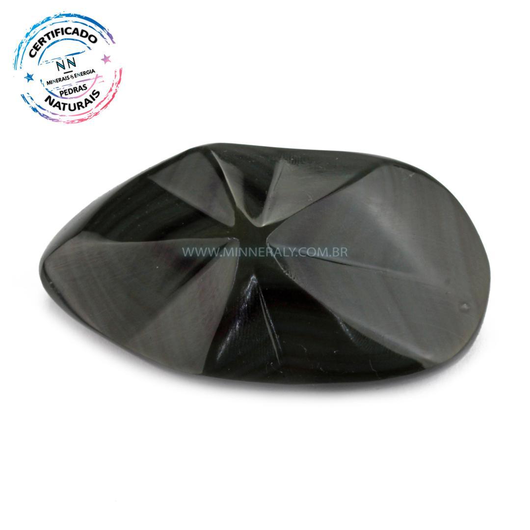 Obsidiana ARCO-IRÍS IN Natura Polido (0,120KG; ALT: 2,9CM; COMP: 8,4CM; LARG: 4,5CM)
