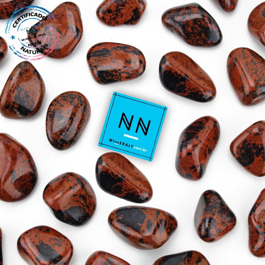 Obsidiana COR de Mogno (marrom ou Mahagony) IN Natura ROLADA/PECA