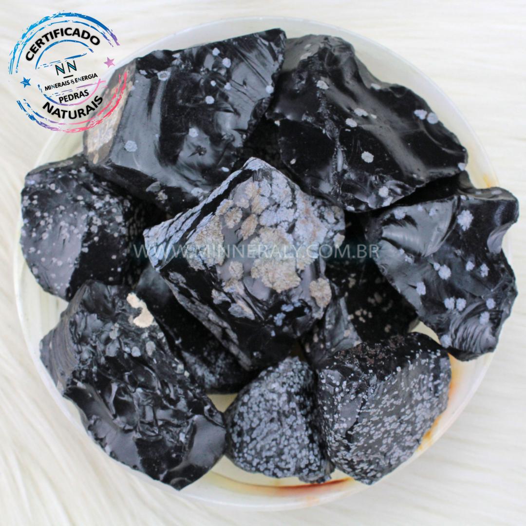 Obsidiana Floco de Neve IN Natura BRUTA/QUILO