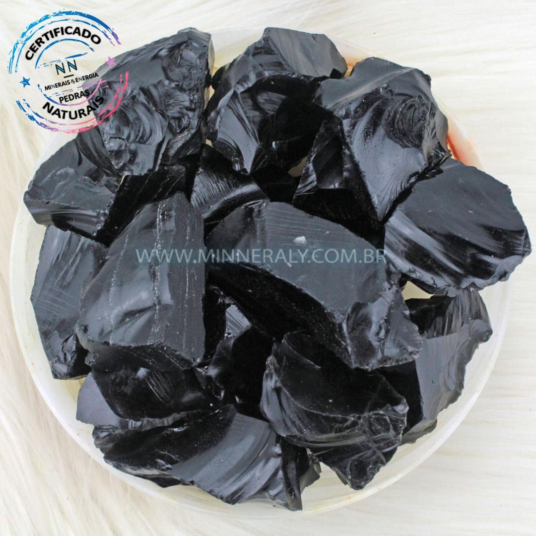 Obsidiana Negra (preta) IN Natura BRUTA/QUILO