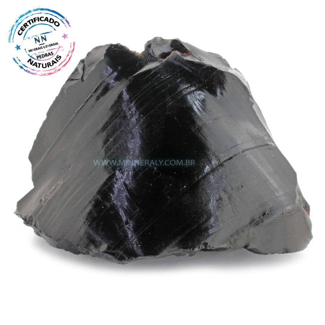 Obsidiana Negra (preta) IN Natura em Bruto (0,840KG; ALT: 12,5CM; COMP: 10,9CM; LARG: 10,6CM)