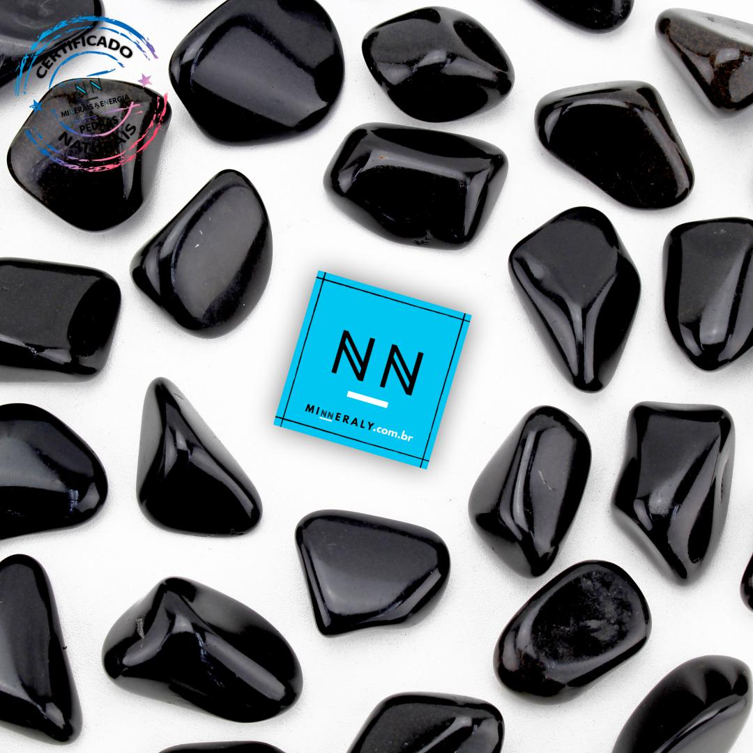 Obsidiana Negra (Preta) in Natura Rolada/Peça