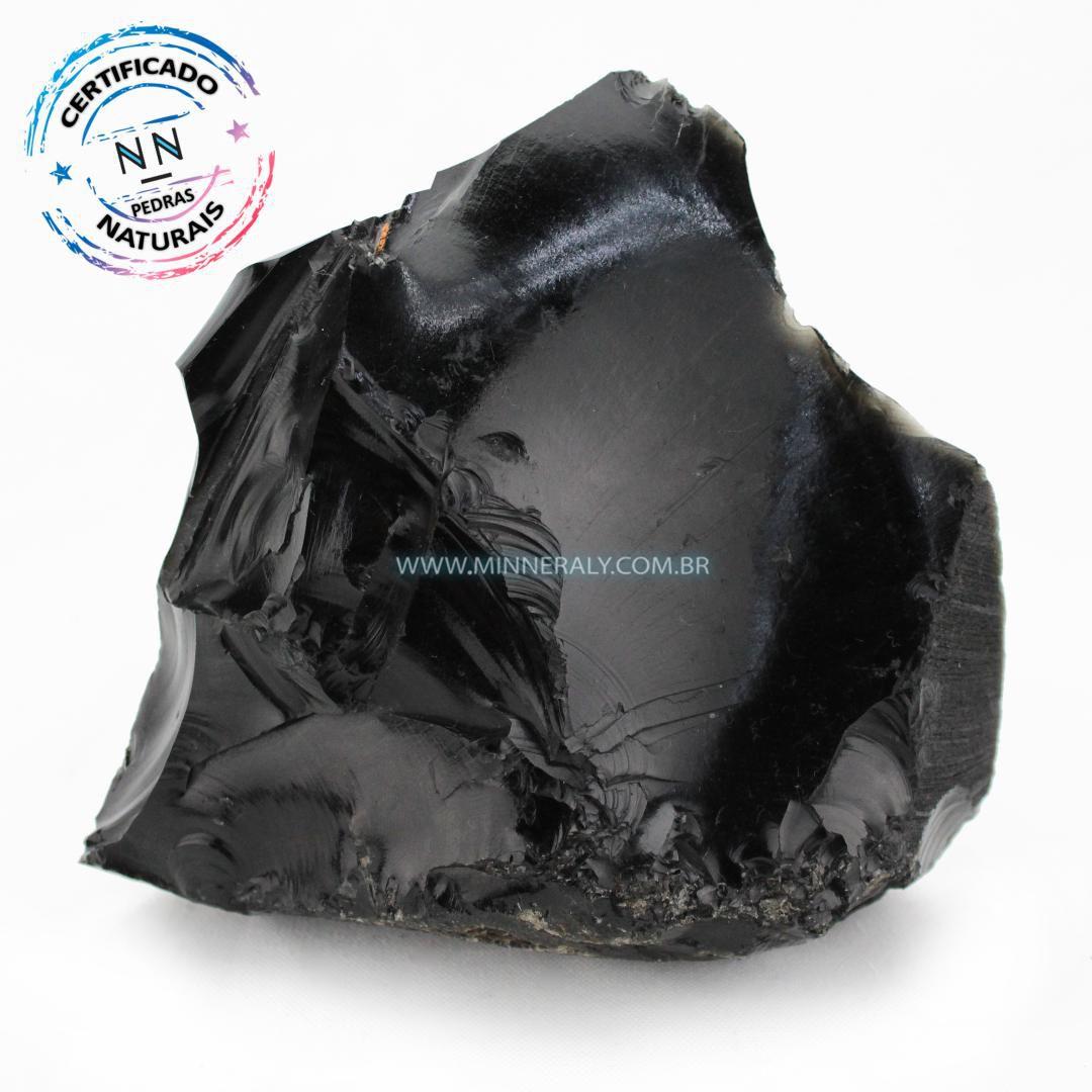 Obsidiana Preta in Natura em Bruto #NN382