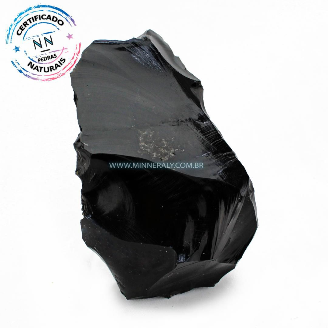 Obsidiana Preta in Natura em Bruto #NN384