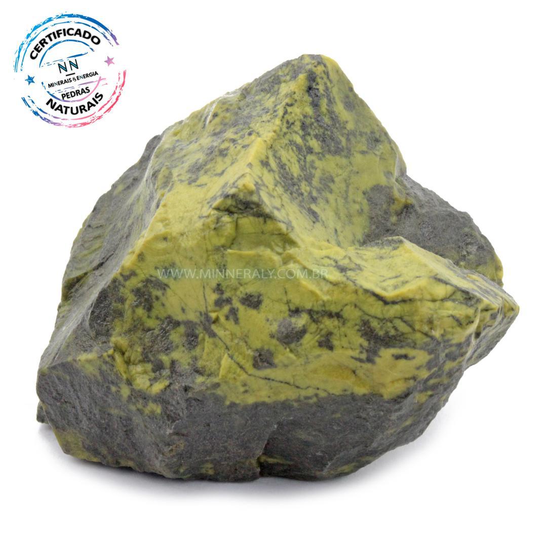 Pedra do Infinito (serpentina VERDE-CLARA) IN Natura em Bruto (0,512KG; ALT: 6,4CM; COMP; 8,8CM; LARG: 6,7CM)