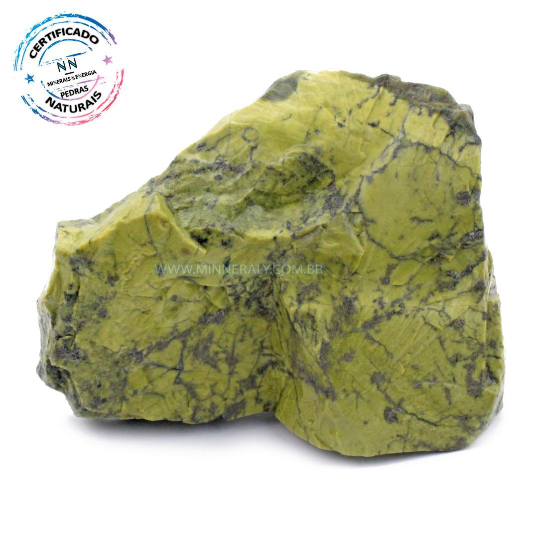 Pedra do Infinito (serpentina VERDE-CLARA) IN Natura em Bruto (2,378KG; ALT: 12,7CM; COMP; 18,2CM; LARG: 9,8CM)