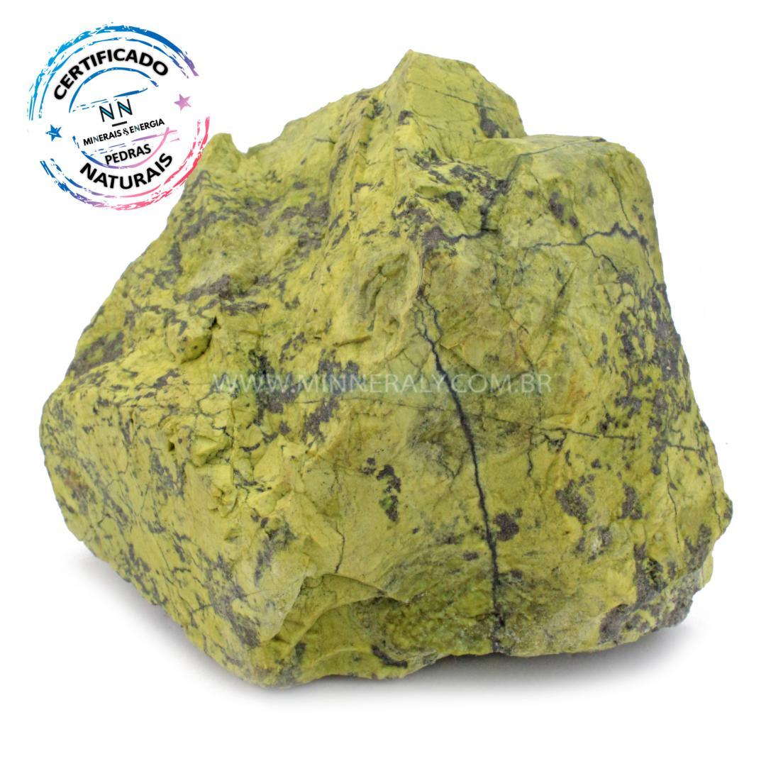 Pedra do Infinito (serpentina VERDE-CLARA) IN Natura em Bruto (2,660KG; ALT: 13,0CM; COMP: 16,7CM; LARG: 10,1CM)