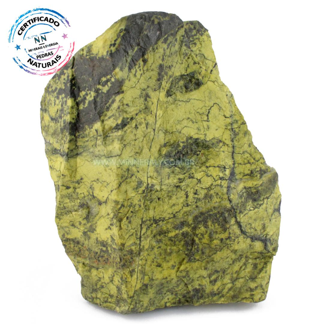 Pedra do Infinito (serpentina VERDE-CLARA) IN Natura em Bruto (3,665KG; ALT: 21,0CM; COMP: 15,0CM; LARG: 7,5CM)