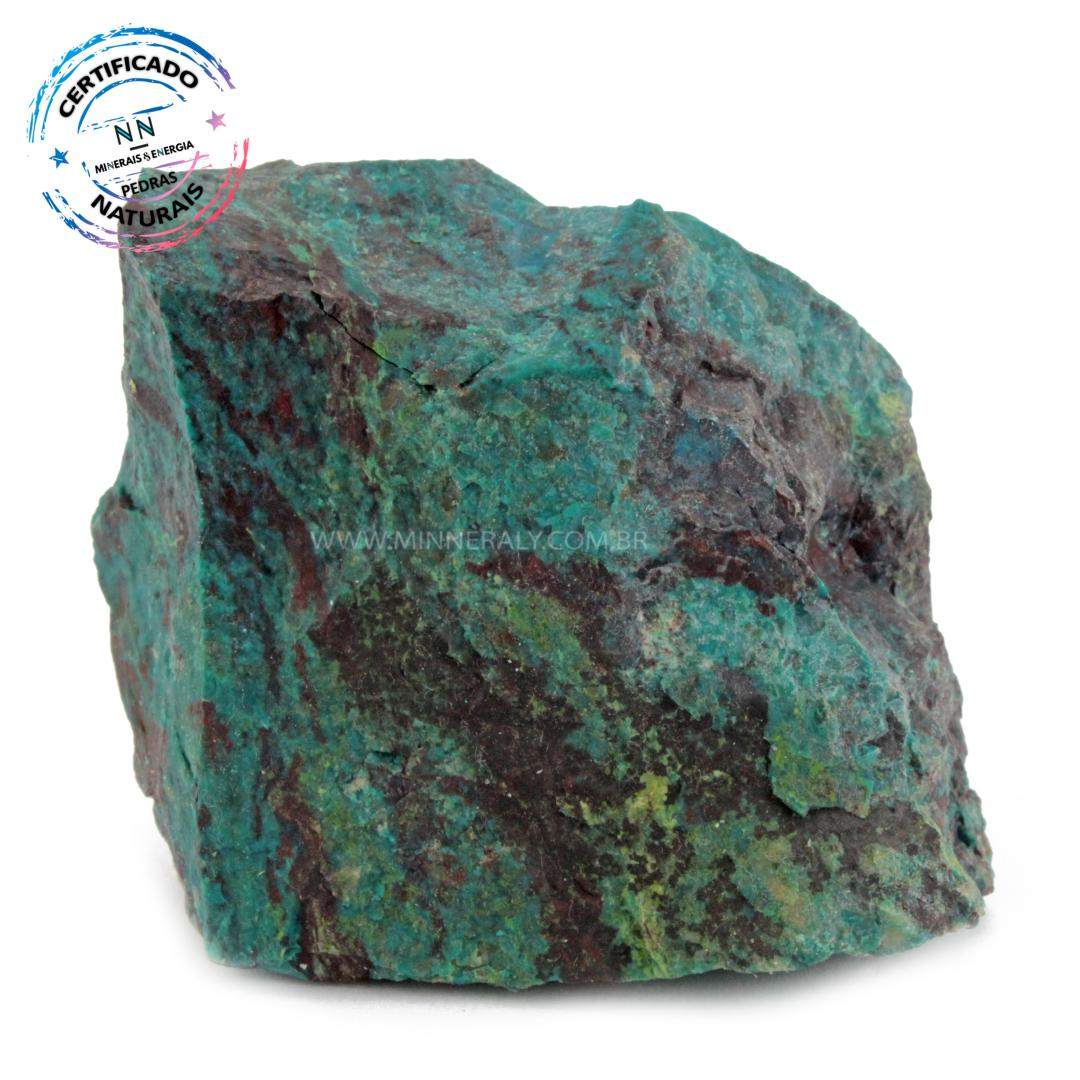 Pedra Eilat IN Natura em Bruto (0,356KG; ALT: 6,6CM; COMP: 8,3CM; LARG: 7,2CM)