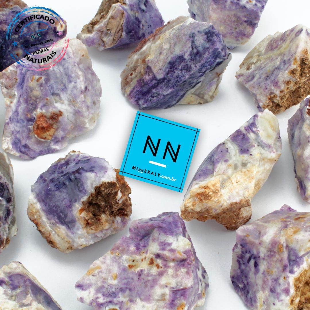 Pedra Tiffany (Opala Púrpura ou Lavanda Roxa) in Natura Bruta/Peça