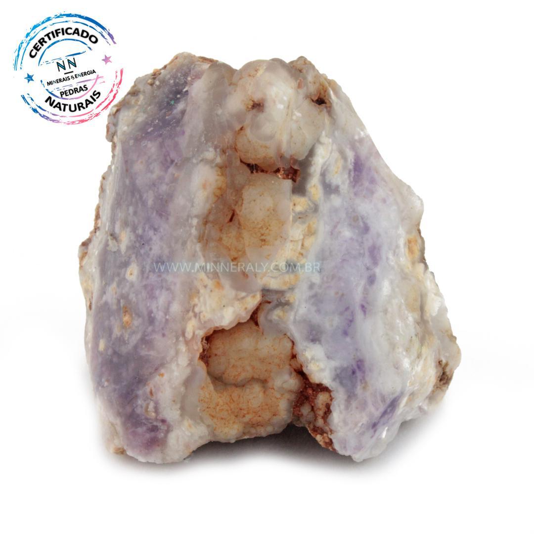 Pedra Tiffany (opala Purpura ou Lavanda Roxa) IN Natura em Bruto (0,172KG; ALT: 6,2CM; COMP: 6,1CM; LARG: 6,5CM)