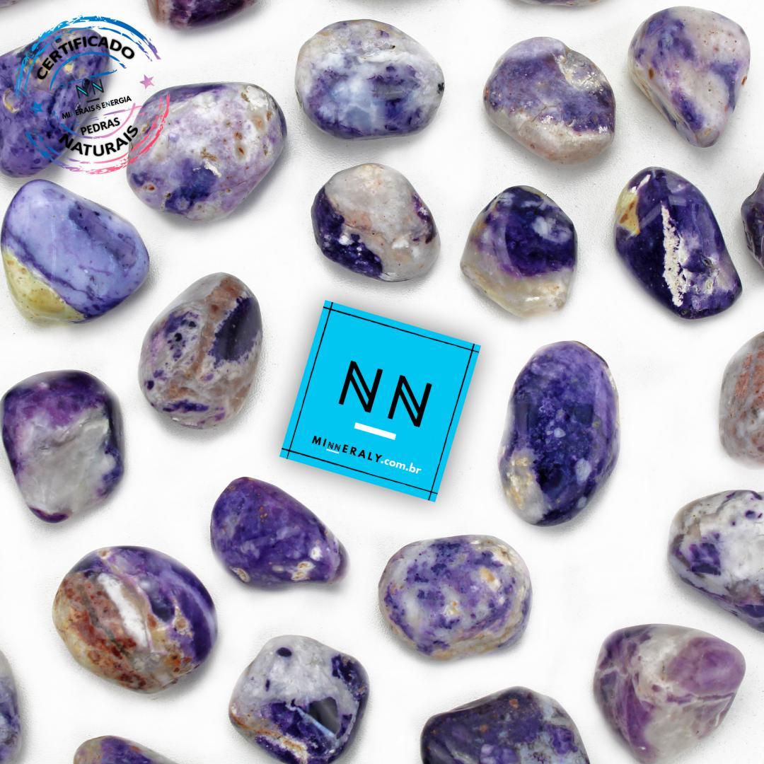 Pedra Tiffany (Opala Púrpura ou Lavanda Roxa) in Natura Rolada/Peça