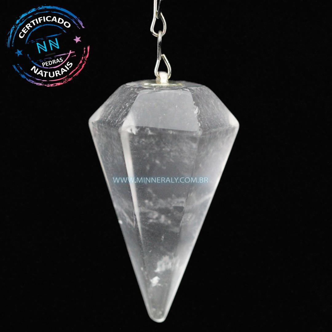 Pêndulos de Quartzo ou Cristal Branco in Natura