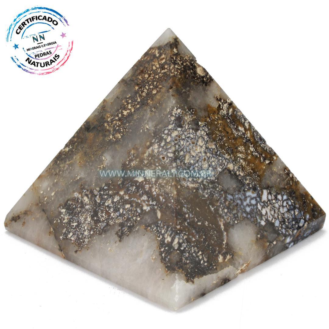 Pirâmide de Ágata Dendríta in Natura (0,386kg; 8,2cm) #NN105