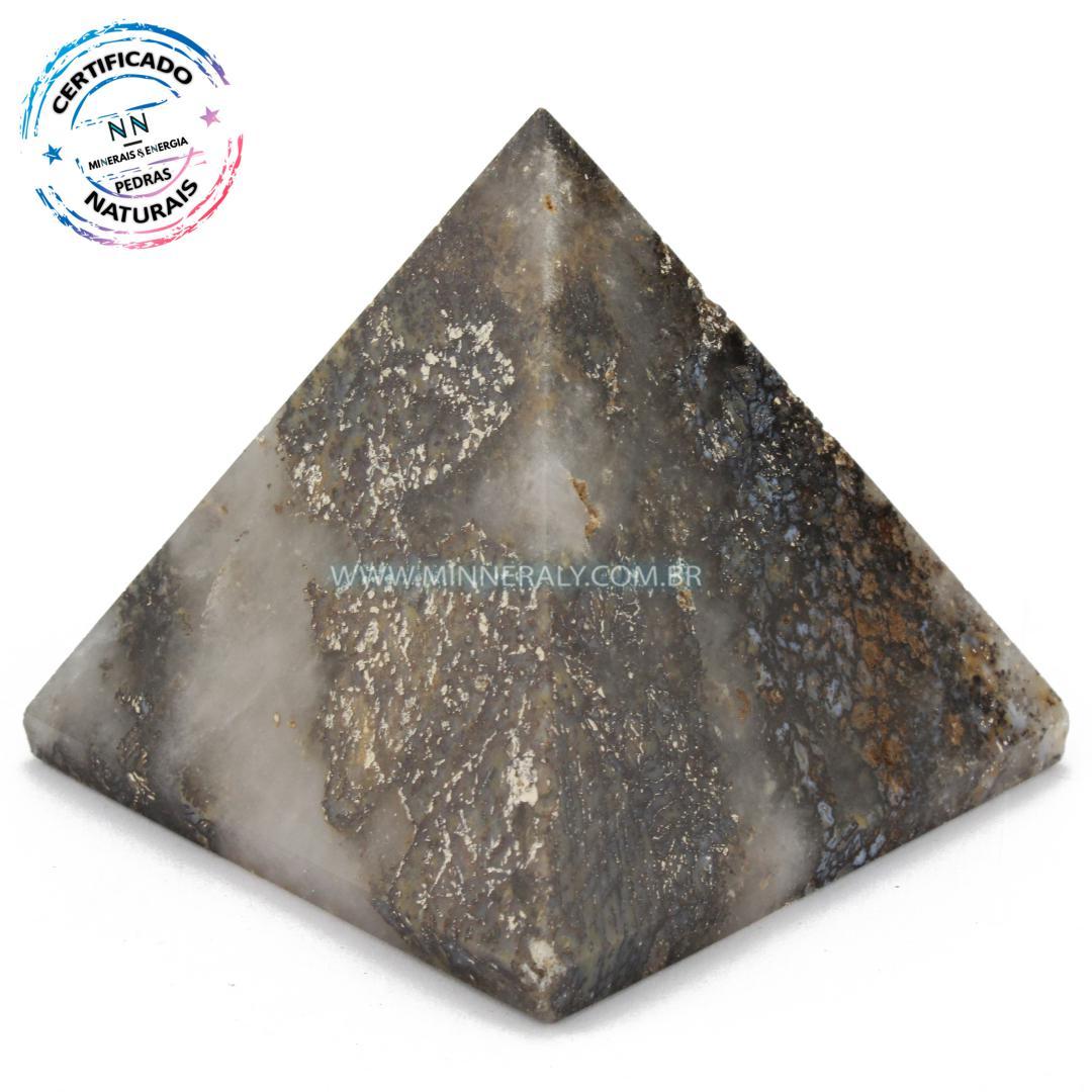 Pirâmide de Ágata Dendríta in Natura (0,246kg; 7,2cm) #NN101