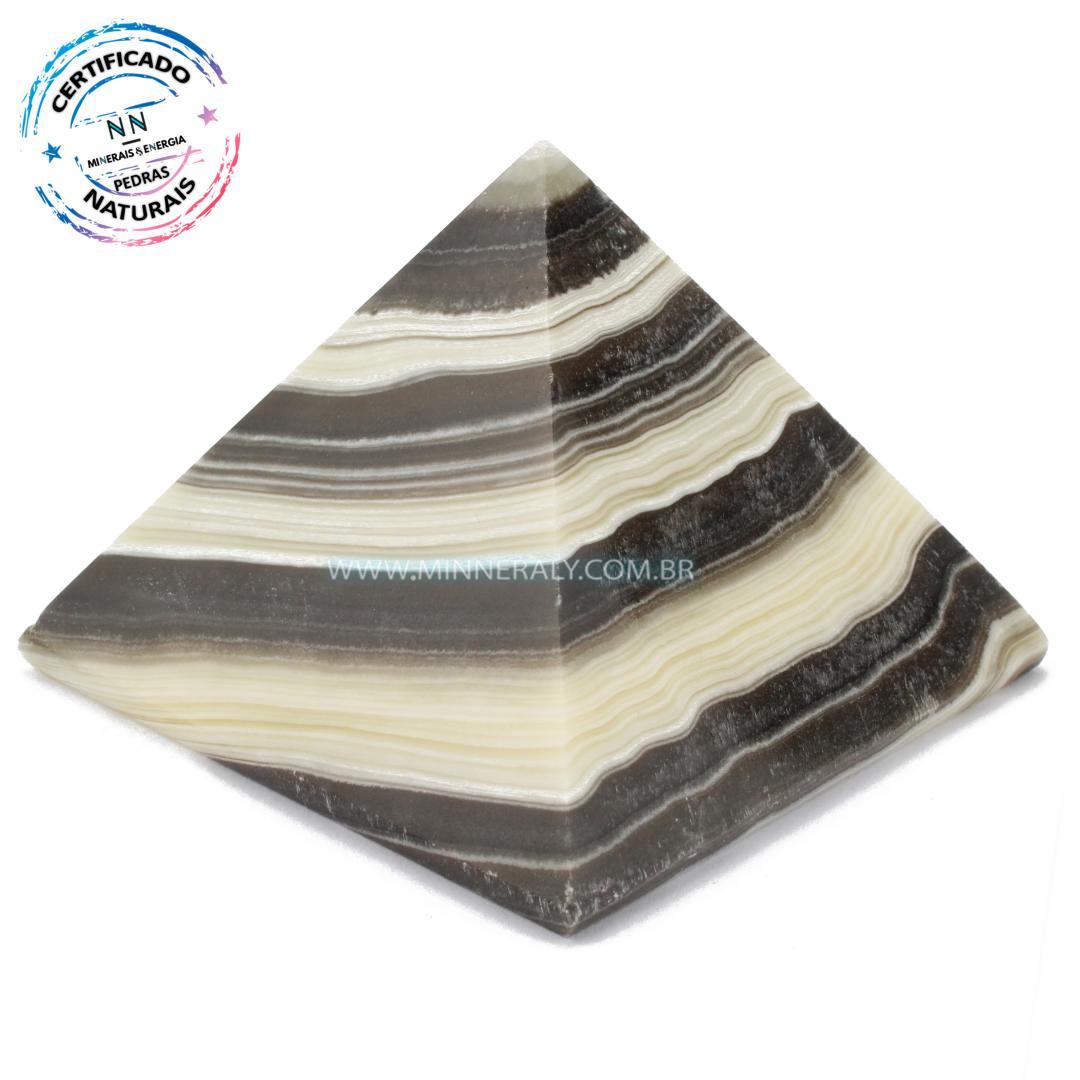 Pirâmide de Aragonita Zebra in Natura (0,396kg; 7,2cm) #NN116
